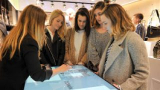 Touch table lets Mimco shoppers get hands-on