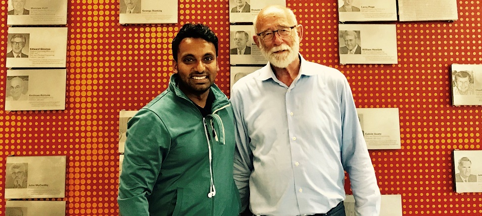 ACS Vice-President Yohan Ramasundara and Professor David Beach at Stanford University.