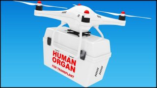 Touchdown for drone-delivered organs