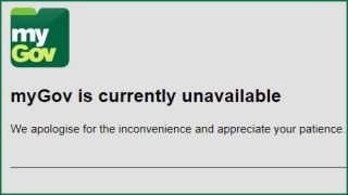 MyGov website crashes